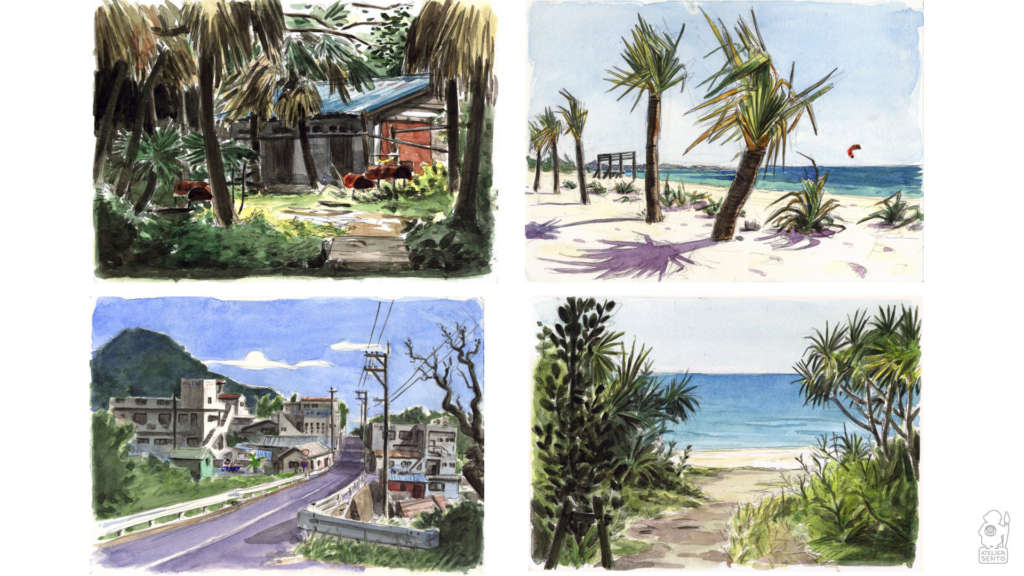 TheCoralCave_okinawa_sketches