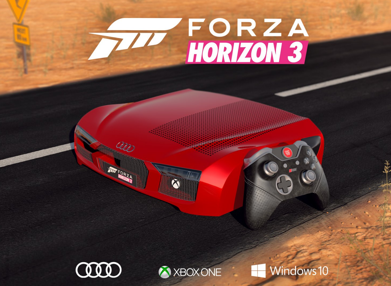 une xbox one s collector pour forza horizon 3 joypad. Black Bedroom Furniture Sets. Home Design Ideas